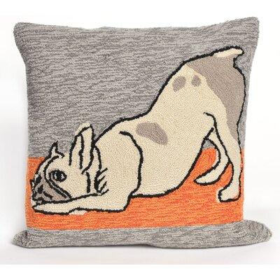 Frontporch Yoga Dog Heather Throw Pillow