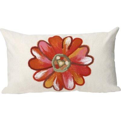 Kara Daisy Indoor/Outdoor Lumbar Pillow Color: Orange