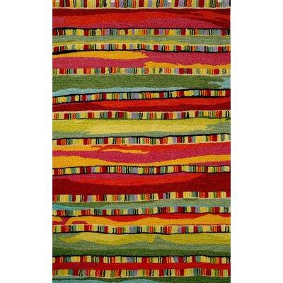Shelburne Mosaic Stripe Fiesta Rug Rug Size: Runner 22 x 710
