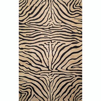 Bowdens Zebra Neutral Rug Rug Size: 36 x 56