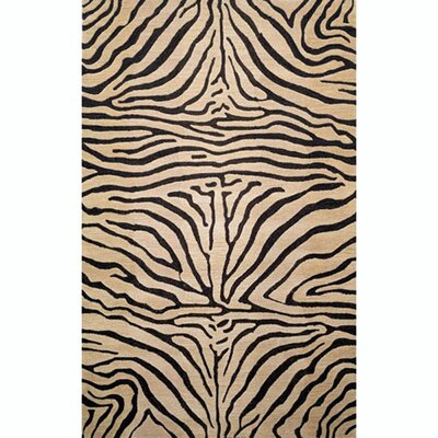 Bowdens Zebra Neutral Rug Rug Size: 5 x 8