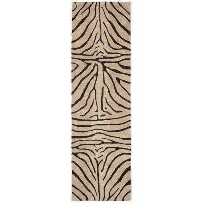 Bowdens Zebra Neutral Rug Rug Size: Runner 23 x 8