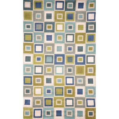 Nelda Big Squares Indoor/Outdoor Rug Rug Size: Rectangle 36 x 56