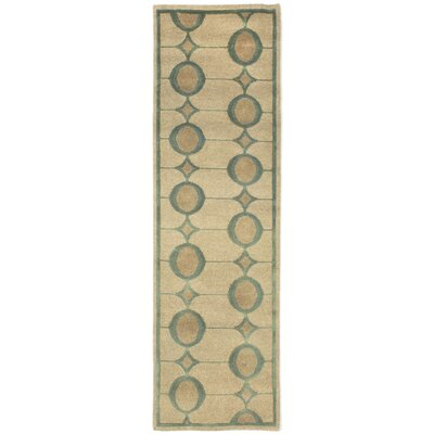 Palermo Arabesque Hand Knotted Wool Beige Area Rug Rug Size: Rectangle 8 x 10