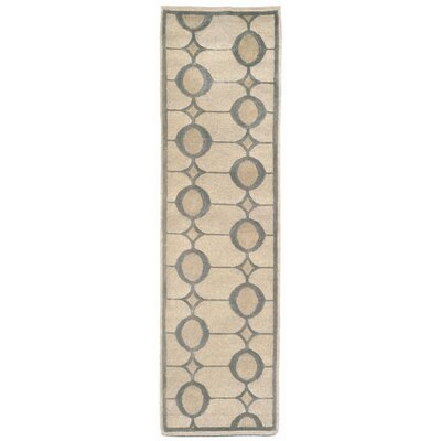 Palermo Ivory Neutral Arabesque Rug Rug Size: Runner 23 x 8