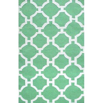 Assisi Aqua Tile Indoor/Outdoor Area Rug Rug Size: 5 x 76