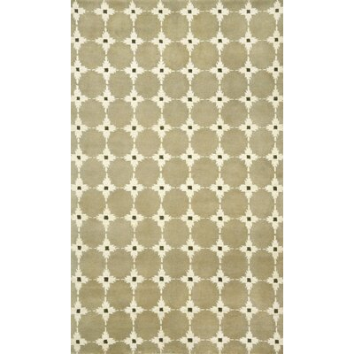Palermo Brown Squares Neutral Area Rug Rug Size: 5 x 8
