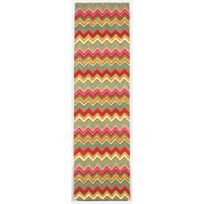 Seville Zigzag Stripe Area Rug Rug Size: Runner 23 x 8