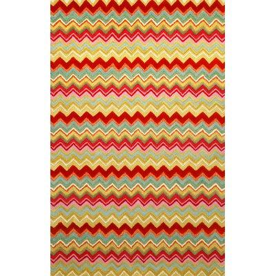 Seville Zigzag Stripe Area Rug Rug Size: 36 x 56