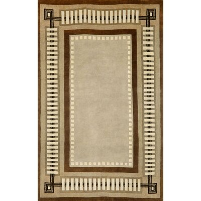 Palermo Modern Border Brown Area Rug Rug Size: 5 x 8