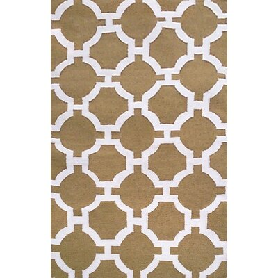 Assisi Hand Woven Khaki Indoor/Outdoor Area Rug Rug Size: Rectangle 5 x 76