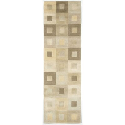Karela Neutral Boxes Rug Rug Size: Runner 23 x 8