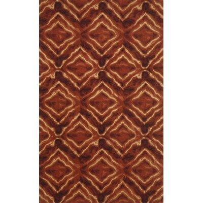 Terrill Burgundy Area Rug Rug Size: 36 x 56