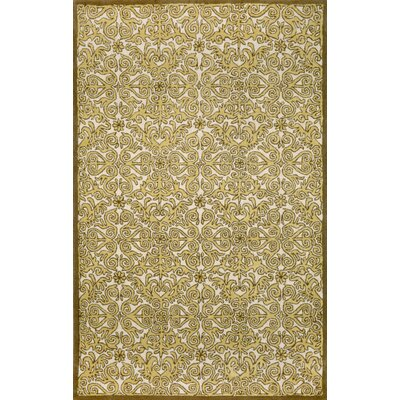 Antigua Yellow Scroll Area Rug Rug Size: 9 x 12