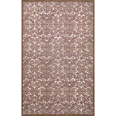Antigua Lavender Scroll Area Rug Rug Size: 36 x 56