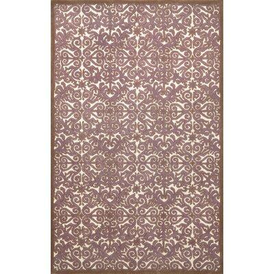 Antigua Lavender Scroll Area Rug Rug Size: 5 x 8
