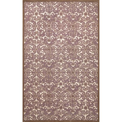 Antigua Lavender Scroll Area Rug Rug Size: 9 x 12
