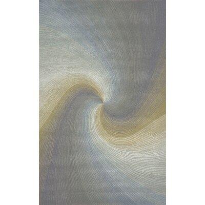 Richmond River Gray Waves Area Rug Rug Size: 9 x 12