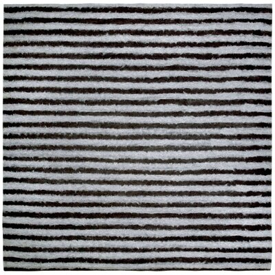Soleil II Hand Woven Charcoal Area Rug Rug Size: Square 8