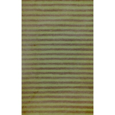 Soleil II Hand-Woven Green/Gray Area Rug Rug Size: 5 x 8