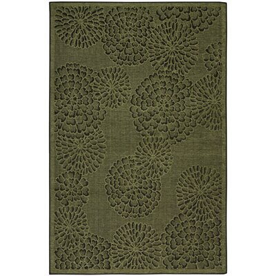 Marseilles Mums Green Area Rug Rug Size: 33 x 411