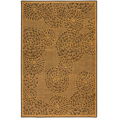 Marseilles Mums Yellow Area Rug Rug Size: 710 x 910