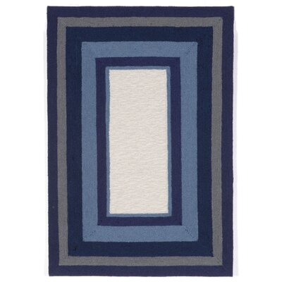 Clark Border Blue Indoor/Outdoor Area Rug Rug Size: 2 x 3