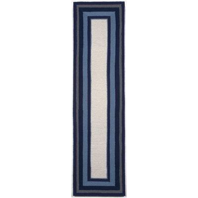 Clark Border Blue Indoor/Outdoor Area Rug Rug Size: Runner 2 x 8