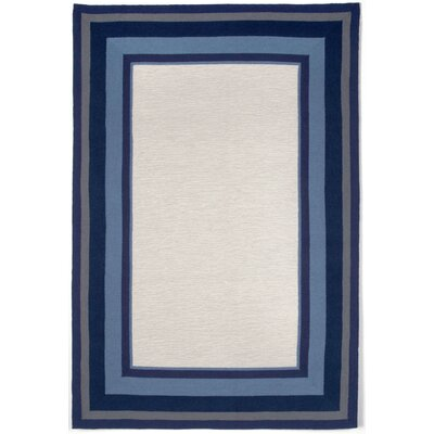 Clark Border Blue Indoor/Outdoor Area Rug Rug Size: 36 x 56