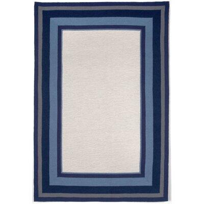 Clark Border Blue Indoor/Outdoor Area Rug Rug Size: 83 x 116