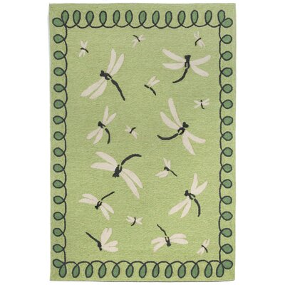 Napa Dragonfly Green Indoor/Outdoor Area Rug Rug Size: 36 x 56