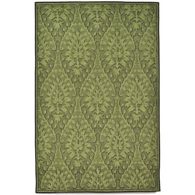 Marseilles Damask Green Area Rug Rug Size: 33 x 411
