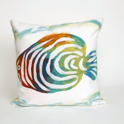 Bluffs Rainbow Fish Throw Pillow