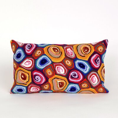 Tengan Swirl Lumbar Pillow Color: Red
