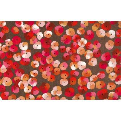 Tengan Pansy Doormat Color: Pink