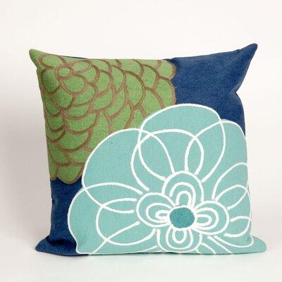 Tengan Disco Throw Pillow Color: Blue