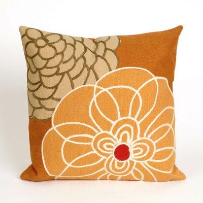 Tengan Disco Throw Pillow Color: Orange