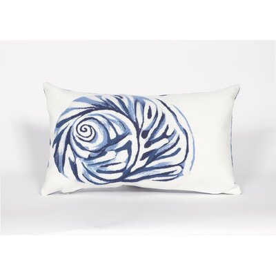 Visions III Shell Lumbar Pillow Color: Blue