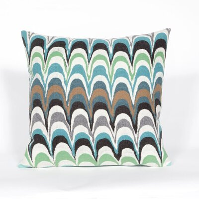 Tengan Floating Ink Throw Pillow Color: Aqua