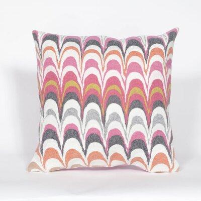 Tengan Floating Ink Throw Pillow Color: Pink