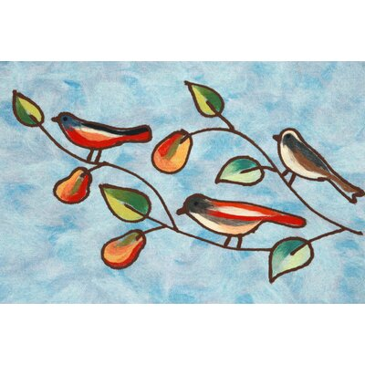 Madelyn Song Birds Doormat Color: Blue