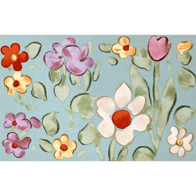 Madelyn Watercolor Flower Doormat Color: Aqua