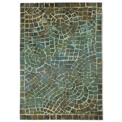 Alline Arch Tile Blue Area Rug Rug Size: 2 x 3