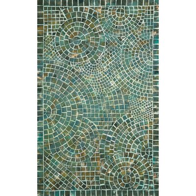 Alline Arch Tile Blue Area Rug Rug Size: 3'6
