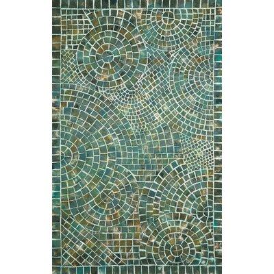 Alline Arch Tile Blue Area Rug Rug Size: 36 x 56