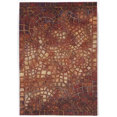 Alline Arch Tile Red Indoor/Outdoor Area Rug Rug Size: 2 x 3
