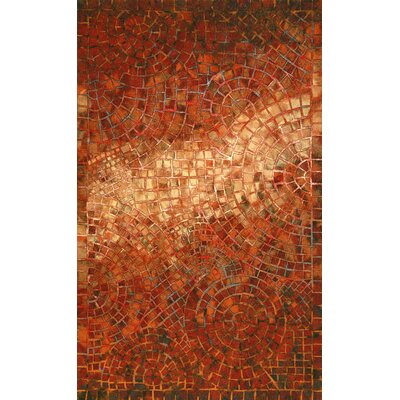 Alline Arch Tile Red Indoor/Outdoor Area Rug Rug Size: 36 x 56
