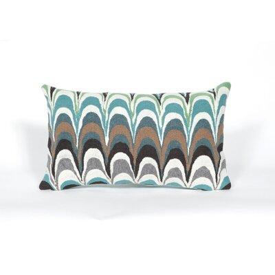Tengan Floating Ink Lumbar Pillow Color: Aqua