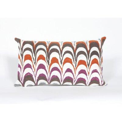 Tengan Floating Ink Lumbar Pillow Color: Orange