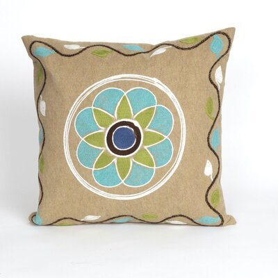 Visions III Maroma Throw Pillow Color: Beige